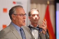 Laurent McCutcheon <br />  prononce une allocution à l'occasion de la cérémonie de remise du prix Laurent-McCutcheon de la fondation emergence, lundi le 11 mai 2016.<br /> <br /> <br /> The Prime Minister Justin Trudeau deliver remarks at the Laurent-McCutcheon Award Ceremony, Monday May 16, 2016,<br /> <br /> PHOTO :  Agence Quebec Presse