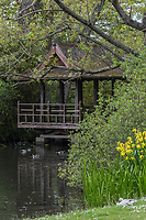 Royaume-Uni, îles Anglo-Normandes, île de Guernesey, Castel : Saumarez Park:le jardin japonais et la pagode// United Kingdom, Channel Islands, Guernsey island, Castel : Saumarez Park: pagoda and Japanese garden
