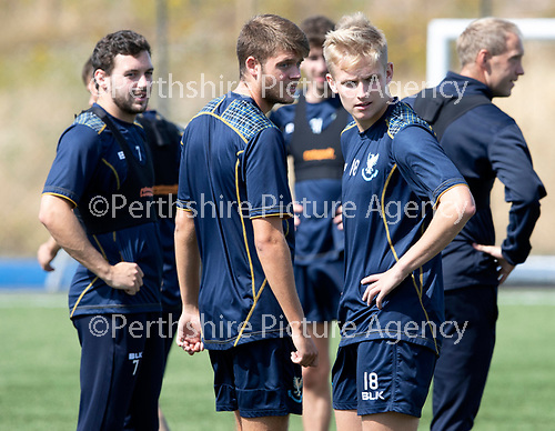St Johnstone Training….27.07.18<br />Ciaran Brian (left) and Ali McCann during training<br />Picture by Graeme Hart.<br />Copyright Perthshire Picture Agency<br />Tel: 01738 623350  Mobile: 07990 594431