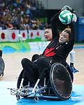 Miranda Biletski, Rio 2016 - Wheelchair Rugby // Rugby En Fauteuil roulant.<br /> Canada vs Japan in the Wheelchair Rugby bronze medal final // Le Canada contre le Japon dans la finale pour la médaille de bronze du rugby en fauteuil roulant. 18/09/2016.