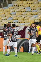 2nd June 2021; Maracana Stadium, Rio de Janeiro, Brazil; Copa do Brazil, Fluminense versus Red Bull Bragantino; Players of Fluminense celebrate their goal scored by Abel Hernández in the 70th minute 2-0