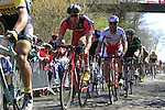 Riders, including Luca Paolini (ITA) Katusha, tackle Sector 18 la Trouee de Arenberg during the 113th edition of the Paris-Roubaix 2015 cycle race held over the cobbled roads of Northern France. 12th April 2015.<br /> Photo: Eoin Clarke www.newsfile.ie