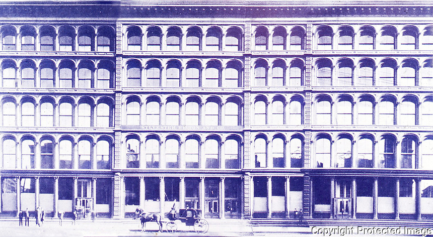 New York History:  Cast Iron Facades, c. 1885.  Black's  LOST NEW YORK, p. 103.   Photo '77.