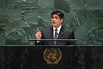General Assembly Seventy-fourth session, 5th plenary meeting<br /> <br /> His Excellency Carlos Alvarado Quesada, President, Republic of Costa Rica