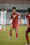 United Arab Emirates vs Indonesia during the 2014 AFC U19 Mens Championship group B match on October 14, 2014 at the Wunna Theikdi Stadium, Naypyidaw, Myanmar. Photo by World Sport Group
