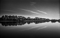Castelnuovo Bocca d'Adda (Lodi), località Brevia. Il Po --- River Po