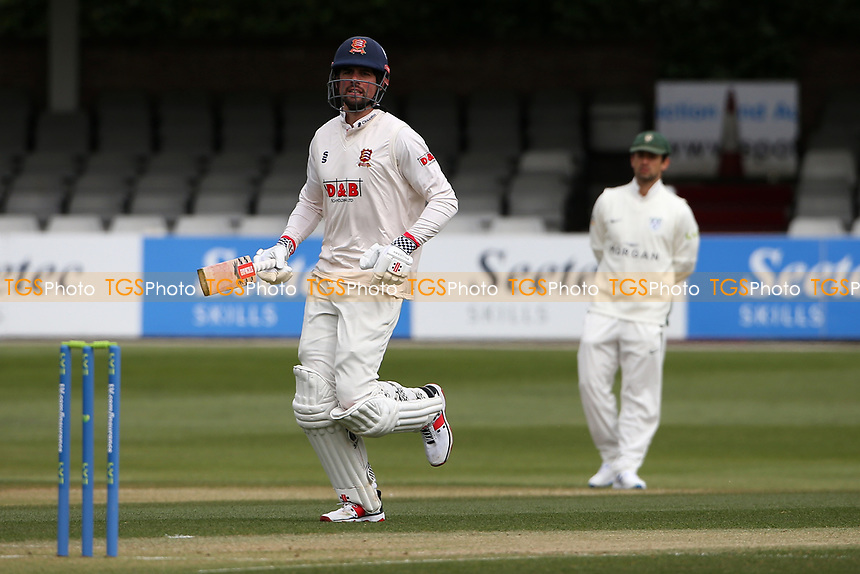 Sir Alastair Cook of Essex johs through as another run is added to the total during Essex CCC vs Worcestershire CCC, LV Insurance County Championship Group 1 Cricket at The Cloudfm County Ground on 8th April 2021