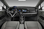 Straight dashboard view of a 2010 Honda Insight EXL.