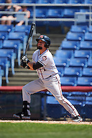Richmond Flying Squirrels catcher Eliezer Zambrano (2) at bat during a game against the Binghamton Mets on June 26, 2016 at NYSEG Stadium in Binghamton, New York.  Binghamton defeated Richmond 7-2.  (Mike Janes/Four Seam Images)