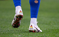 The Nike magista football boots of Max Meyer of Crystal Palace displaying MM7 and German design during the Premier League match between Chelsea and Crystal Palace at Stamford Bridge, London, England on 4 November 2018. Photo by Andy Rowland.<br /> .<br /> (Photograph May Only Be Used For Newspaper And/Or Magazine Editorial Purposes. www.football-dataco.com)