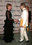 Tom Wolfe and Hillary Rodham Clinton attending  the Literacy Partners 20th  Annual Gala,<br />
