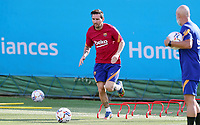 8th September 2020, Barcelona, Spain;  Lionel Messi attends a training session with Barcelona in Barcelona, Spain. Barcelonas Argentinian forward Lionel Messi returned to training with team on Monday, about two weeks after he told the club he intends to leave this summer.