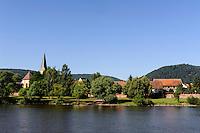 Blick von Großheubach nach Kleinheubach am Main, Bayern, Deutschland