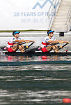 Rowing, Canada Lightweight Men's Double Sculls, from stern: Cam Sylvester (Caledon, ON) Western RC, Doug Vandor (Dewittville, ON) McGill University RC,  2011 FISA World Rowing Championships, Lake Bled, Bled, Slovenia, Europe, Rowing Canada Aviron,  Final B, September 4, 2011, Just qualifying for the Olympics in 2012