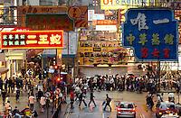 Rush hour in Causeway Bay, Hong Kong.<br /> 30 Oct 2007