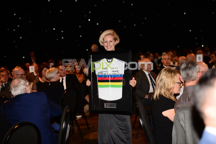 Picture by Simon Wilkinson/SWpix.com - 04/11/2017 Cycling Dave Rayner Fund Dinner 2017 New Dock Yard Royal Armouries, Leeds - Jos Ryan