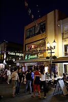 Montreal (Qc) CANADA - 2008 file photo -..One of  many greek restaurant on Montreal's Prince-Arthur Pedestrian street at night..