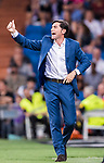 Coach Marcelino Garcia Toral of Valencia CF reacts during their La Liga 2017-18 match between Real Madrid and Valencia CF at the Estadio Santiago Bernabeu on 27 August 2017 in Madrid, Spain. Photo by Diego Gonzalez / Power Sport Images