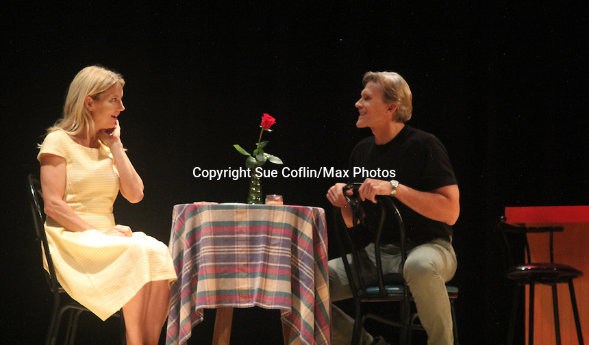 """show shots - Guiding Light's Grant Aleksander and Cynthia Watros star in """"Breathing Under Dirt"""" - full play - had its world premier on August 13 and 14, 2016 at the Ella Fitzgerald Performing Arts Center, University of Maryland Eastern Shore, Princess Anne, Maryland  (Photo by Sue Coflin/Max Photos)"""