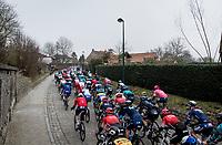 over the Huisepontweg cobbles<br /> <br /> 76th Omloop Het Nieuwsblad 2021<br /> ME(1.UWT)<br /> 1 day race from Ghent to Ninove (BEL): 200km<br /> <br /> ©kramon