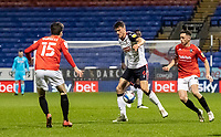 Bolton Wanderers' Ryan Delaney breaks<br /> <br /> Photographer Andrew Kearns/CameraSport<br /> <br /> The EFL Sky Bet League Two - Bolton Wanderers v Salford City - Friday 13th November 2020 - University of Bolton Stadium - Bolton<br /> <br /> World Copyright © 2020 CameraSport. All rights reserved. 43 Linden Ave. Countesthorpe. Leicester. England. LE8 5PG - Tel: +44 (0) 116 277 4147 - admin@camerasport.com - www.camerasport.com