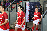 Noemie Gelders (10 Standard) enters the pitch before  a female soccer game between Standard Femina de Liege and RSC Anderlecht on the 9th matchday of the 2020 - 2021 season of Belgian Scooore Womens Super League , saturday 12 th of December 2020  in Angleur , Belgium . PHOTO SPORTPIX.BE   SPP   SEVIL OKTEM