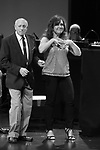 """Hal Shane and Debbie Gravitte during the curtain call bows for """"They're Playing Our Song"""" Concert Benefit for The Actors Fund at the Music Box Theatre on February 11, 2019 in New York City."""