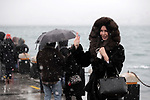 People enjoy during a snowy day in Istanbul, Turkey, on 15 February 2021. Temperature dropped to as low as two degrees Celsius on 15 February while the Turkish State Meteorological Service (TSMS) said Istanbul will witness snowfall that could continue until 18 February with severe drop in temperatures. Photo by Shady Al-assar