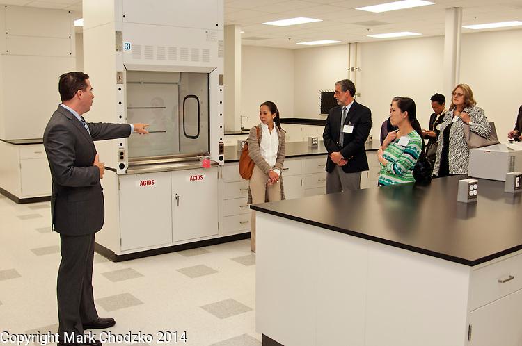 Prolacta executive gives tour of facility at Grand Opening