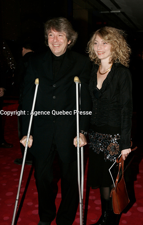 January 20 2005, Montreal (Quebec) CANADA<br /> Alain Simard President SPECTRA , organizer of a  new cinema  Festival in Montreal , arrive at the 2005 Jutras Gala in Montreal.<br /> Spectra is involved in a controversy over the creation of the their festival n that would comptete with the 35 year old NEW CINEMA FESTIVAL - FESTIVAL DU NOUVEAU CINEMA and also with the World Film Festival, founded by Serge Losique.<br /> Photo (c) 2005P Roussel / Images Distribution
