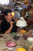 Europe/Espagne/Baléares/Minorque/Mahon : Fabrique de céramique traditionnelle