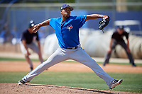 Toronto Blue Jays pitcher Kender Villegas (53) delivers a pitch during a minor league Spring Training game against the New York Yankees on March 30, 2017 at the Englebert Complex in Dunedin, Florida.  (Mike Janes/Four Seam Images)