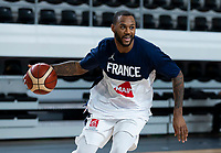 22nd February 2021, Podgorica, Montenegro; Eurobasket International Basketball qualification for the 2022 European Championships, England versus France;  Amath M'Baye of France in warm up