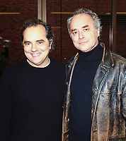 20 April 2021 - Acclaimed Canadian music producer, sound engineer and musician Bob Lanois has died at age 73.  Bob is photographed with his brother Daniel Lanois who has produced albums by artists including U2, Bob Dylan, Neil Young and Peter Gabriel.  File Photo: 2004 McMaster University, Hamilton, Ontario, Canada. Photo Credit: Brent Perniac/AdMedia