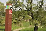 Israel, Jezreel Valley, a bike trail by Tel Shimron