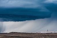 Supercell thunderstorm above Denver, CO Intl. Airport
