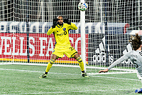 FOXBOROUGH, MA - NOVEMBER 20: Clement Diop #23 of Montreal Impact makes a save during the Audi 2020 MLS Cup Playoffs, Eastern Conference Play-In Round game between Montreal Impact and New England Revolution at Gillette Stadium on November 20, 2020 in Foxborough, Massachusetts.