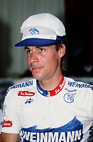 Montreal (Qc) CANADA - file photo , Steve Baeur. (born June 12, 1959 in St. Catharines, Ontario) is a former professional road bicycle racer from Canada. He is an Olympic medallist