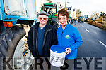Mike Furlong (Bearfort) and Elizabeth Ryle O'Connor (Boolteens) at the James Ashe Memorial Tractor Run in Boolteens on Sunday.