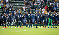 CARSON, CA - APRIL 25: Los Angeles Galaxy starting eleven during a game between New York Red Bulls and Los Angeles Galaxy at Dignity Health Sports Park on April 25, 2021 in Carson, California.