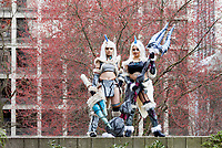 Lupus and Faye Bay Cosplay, Sakura Con 2018, Seattle, Washington, USA.