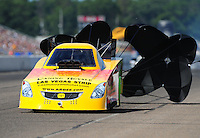 Aug. 20, 2011; Brainerd, MN, USA: NHRA funny car driver Bob Bode during qualifying for the Lucas Oil Nationals at Brainerd International Raceway. Mandatory Credit: Mark J. Rebilas-