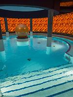 Therme Bogn Engiadina,  Scuol, Unterengadin, Graubünden, Schweiz, Europa<br /> Thermal bath Therme Bogn, Scuol, Scuol Valley, Engadine, Grisons, Switzerland