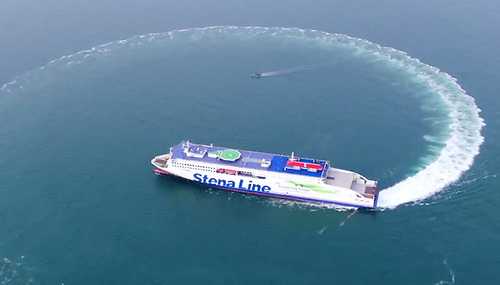 Stena Embla - destined for Belfast Lough but on sea trials this week in China's Yellow Sea