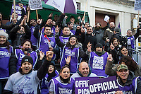 SOAS cleaners strike 4-3-14
