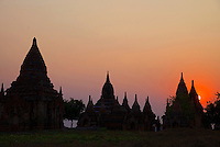 Ancient ruins and Stupas of Bagan, Myanmar, Burma