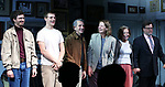 "Michael Cera, Lucas Hedges, Elaine May, Joan Allen, David Cromer and Kenneth Lonergan during the Opening Night Curtain Call bows for ""The Waverly Gallery"" at the Golden Theatre on October 25, 2018 in New York City."