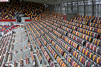 General view of the multi coloured seats in the stands at Brentford FC's new stadium during Brentford vs Rotherham United, Sky Bet EFL Championship Football at the Brentford Community Stadium on 27th April 2021