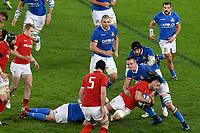 Josh Navidi Wales, Abraham Steyn Italy <br /> Roma 9-02-2019 Stadio Olimpico<br /> Rugby Six Nations tournament 2019  <br /> Italy - Wales <br /> Foto Andrea Staccioli / Resini / Insidefoto