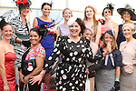 Judge Triona McCarthy with Best Dressed Lady Finalists at the Bellewstown Races..Picture Jenny Matthews/Newsfile.ie